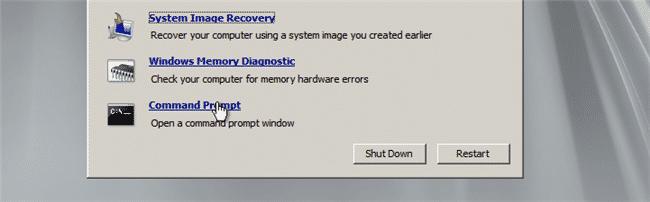 WindowsServer2008R2 command prompt