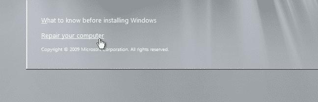 reset password admin Windows Server 2008 R2