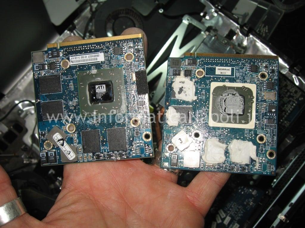 """riparazione scheda video nVidia ATI mxm iMac A1224 20"""""""