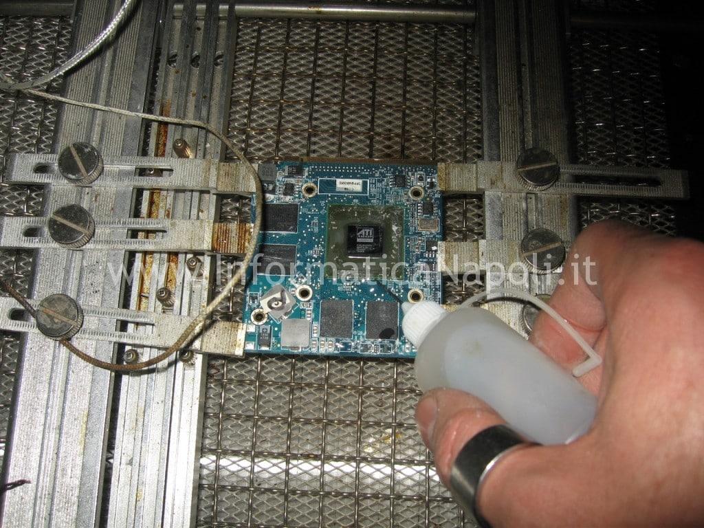 "rework reflow reballing scheda video ATI mxm iMac A1224 20"""