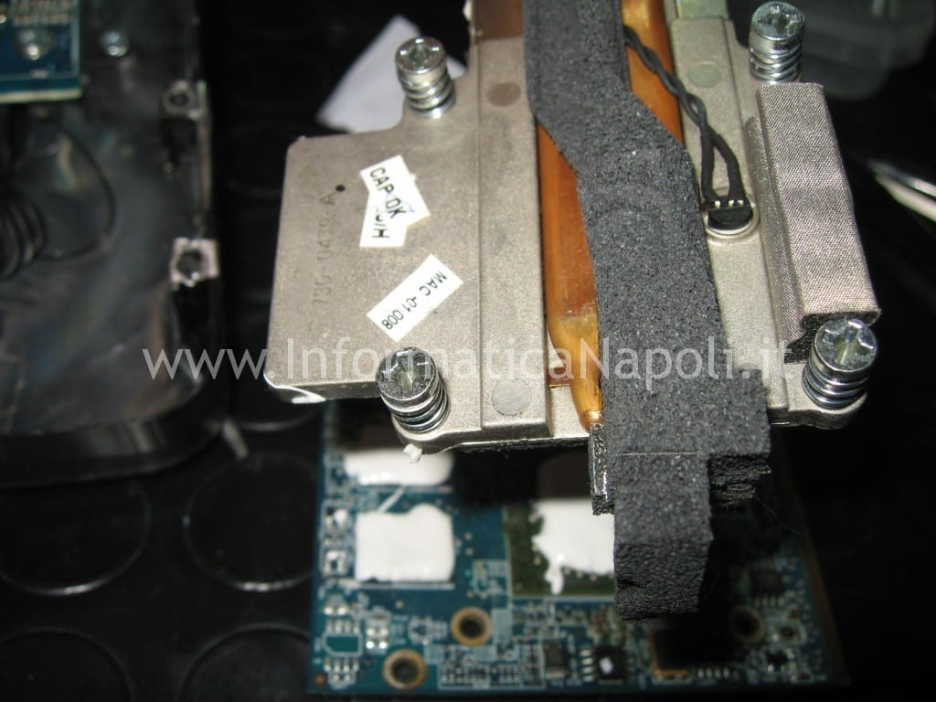 "riparazione e pasta termca scheda video iMac A1224 20"""