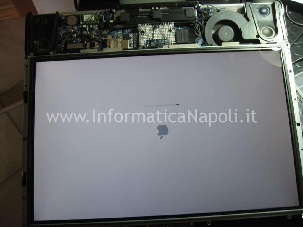 apple imac a1225 schermo 24 pollici riparato si accende
