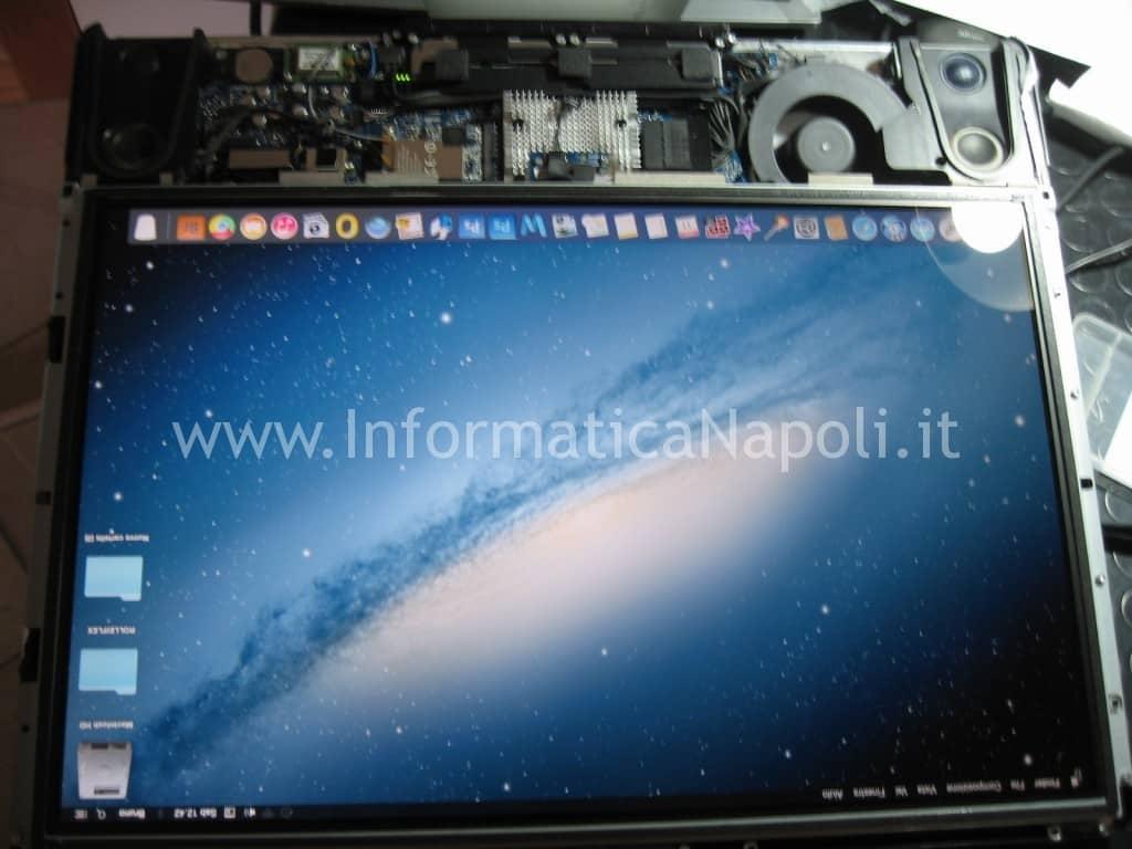 assistenza apple imac a1225 schermo 24 pollici riparato si accende