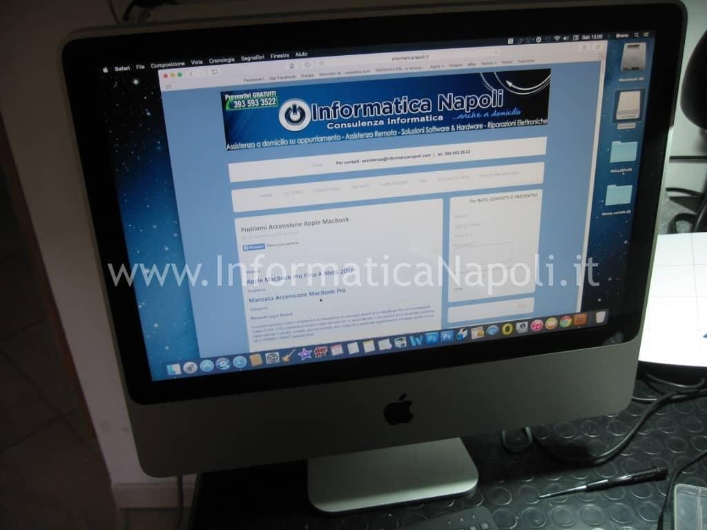 assistenza apple imac A1224 si accende funziona