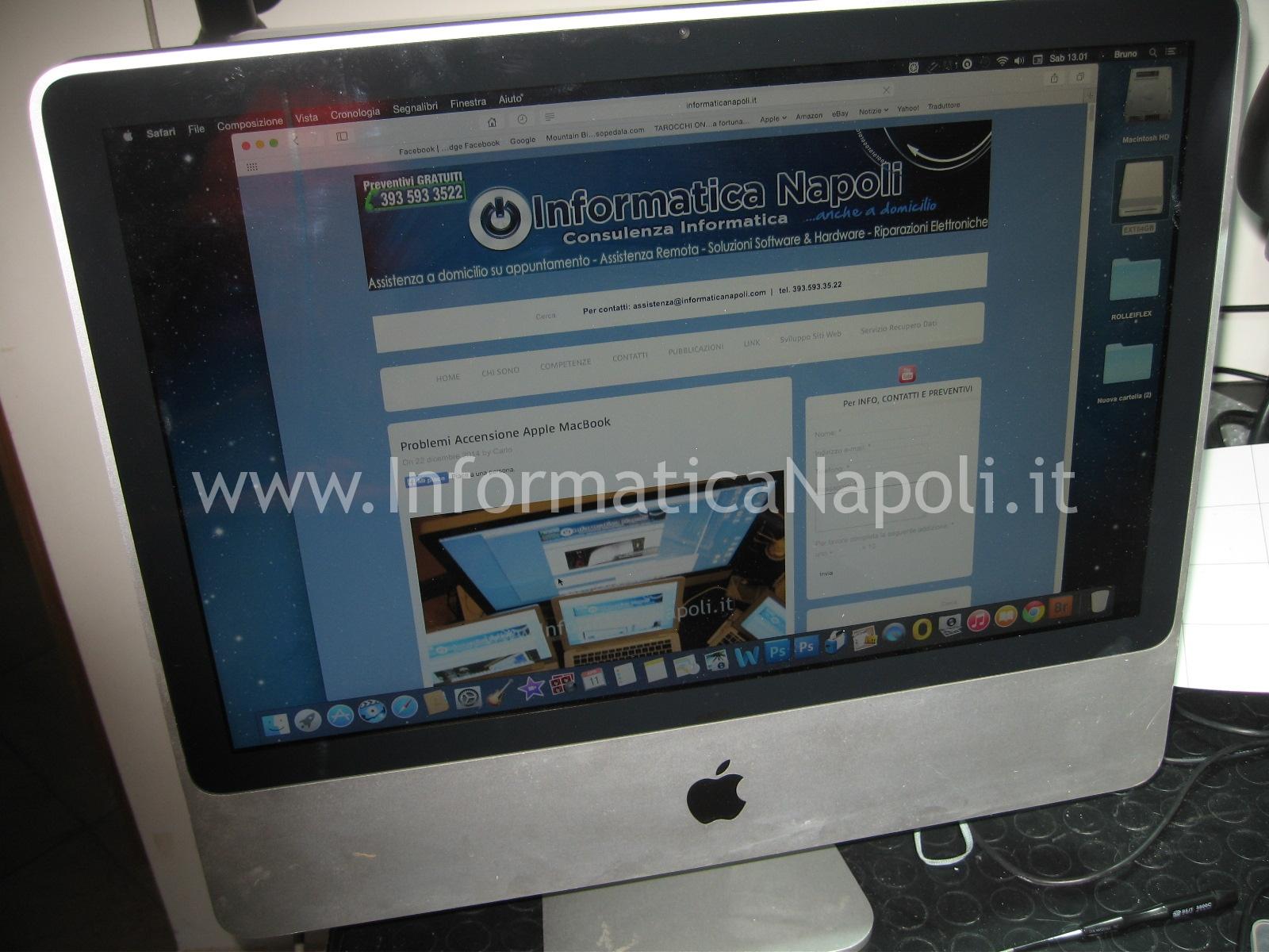assistenza apple imac A1224 si accende funziona riparato