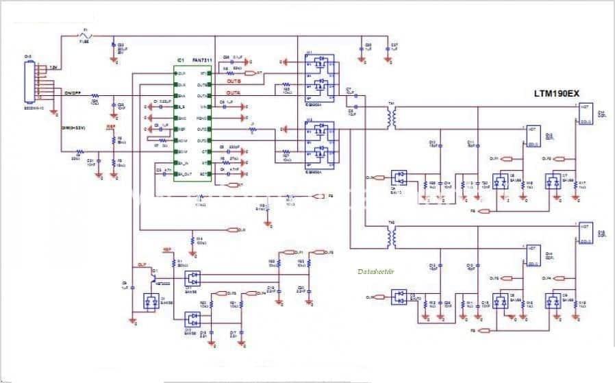 Schemi Elettrici Notebook : Come testare e riparare un inverter lcd ccfl