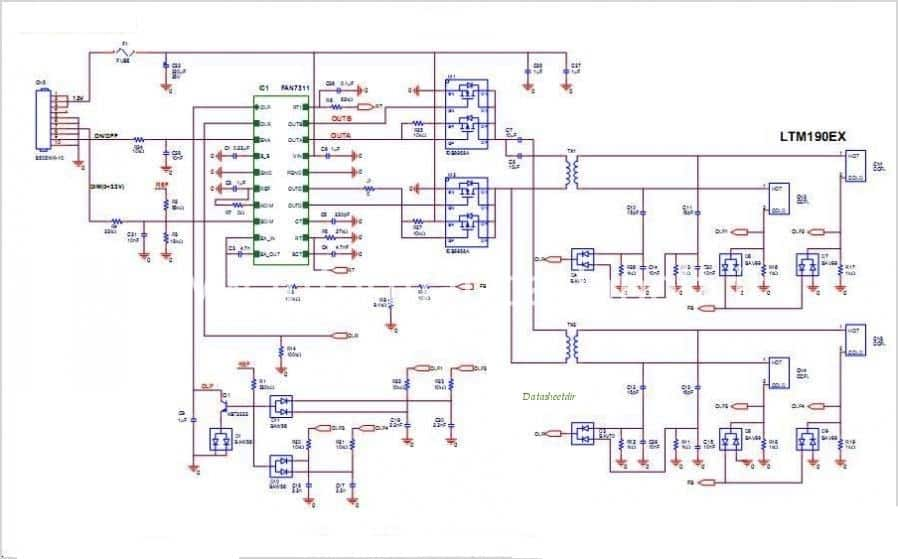 Schema inverter LCD CCFL doppia lampada