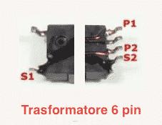 trasformatore 6 pin inverter LCD LED CCFL