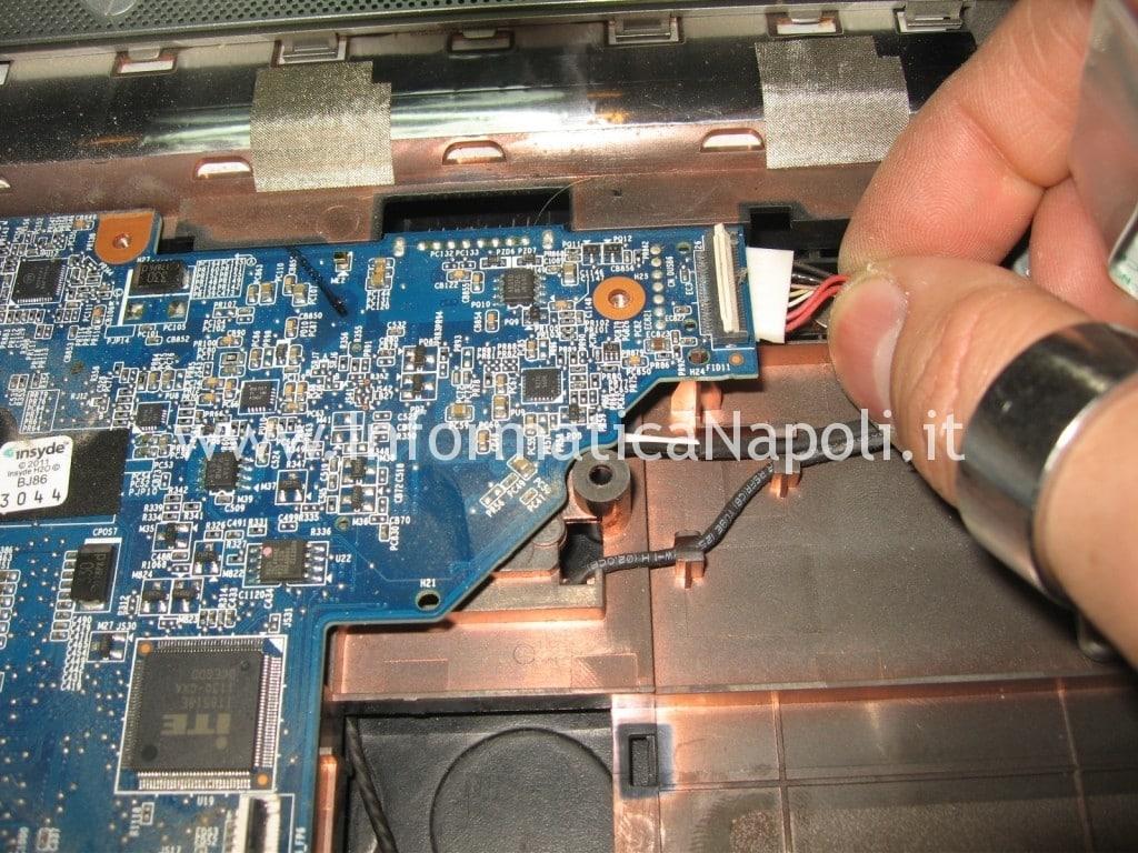 smontare riparare scheda madre HP Pavilion DV6-6169sl
