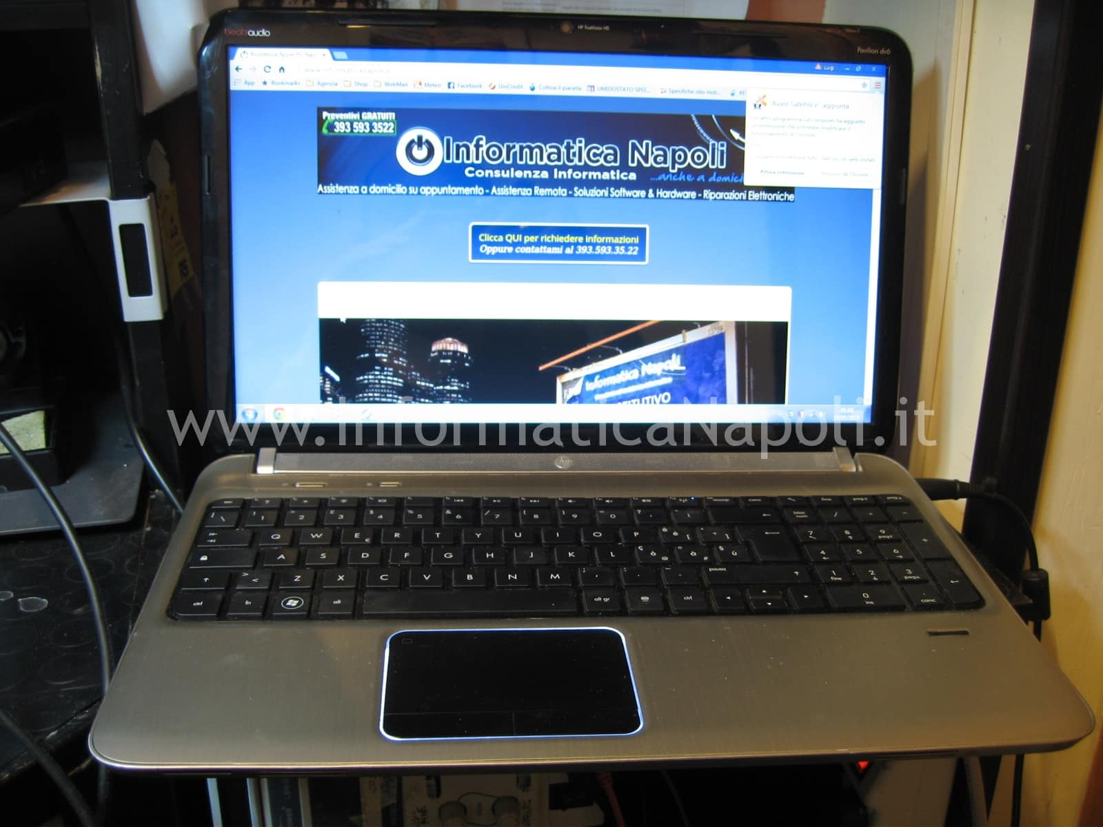 come riparare HP Pavilion DV6-6169sl riparato funzionante