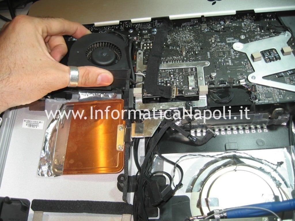 pulizia ventole dissipatore Apple iMac 21.5 A1311 MB950T/A late 2009