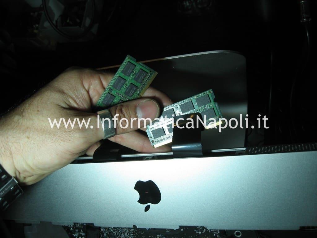 sostituzione ram ddr iMac 21.5 A1311 MB950T/A late 2009