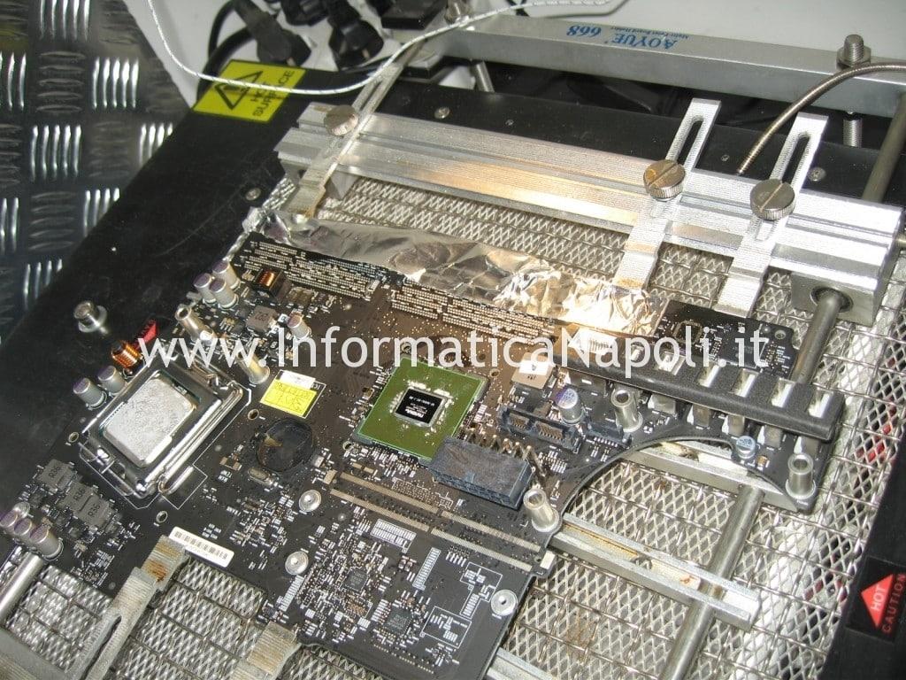 riparazione scheda video scheda logica apple imac 21.5 late 2009 A1311 MB950