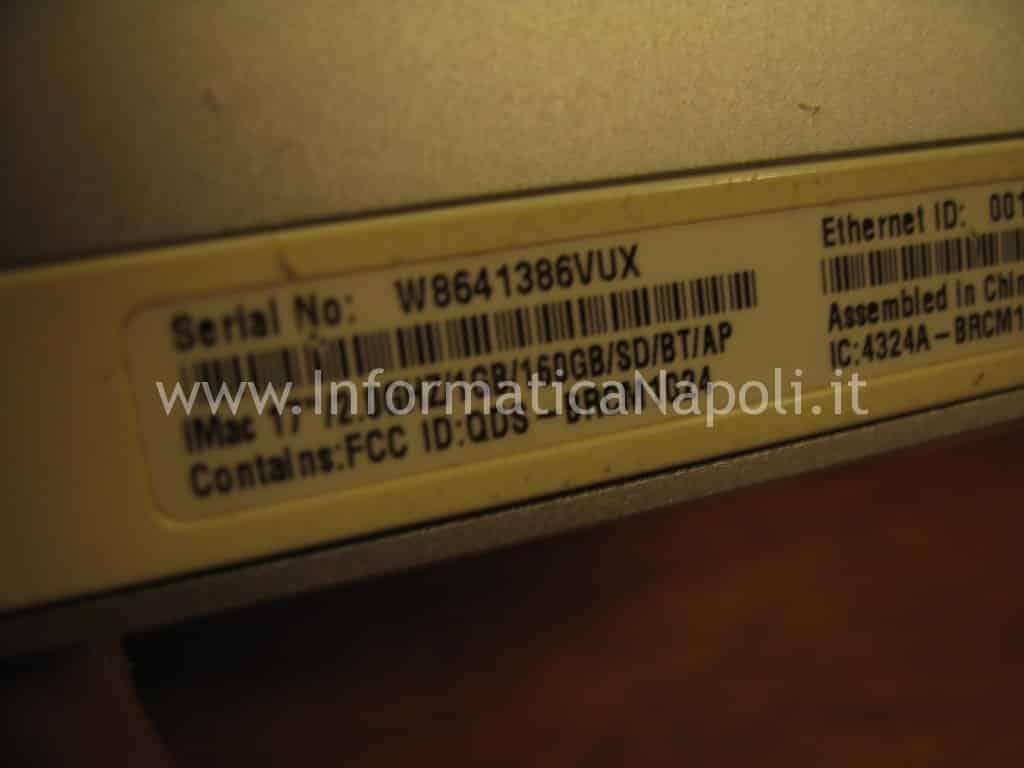 problemi scheda video artefizi iMac 17-inch Late 2006 EMC 2114
