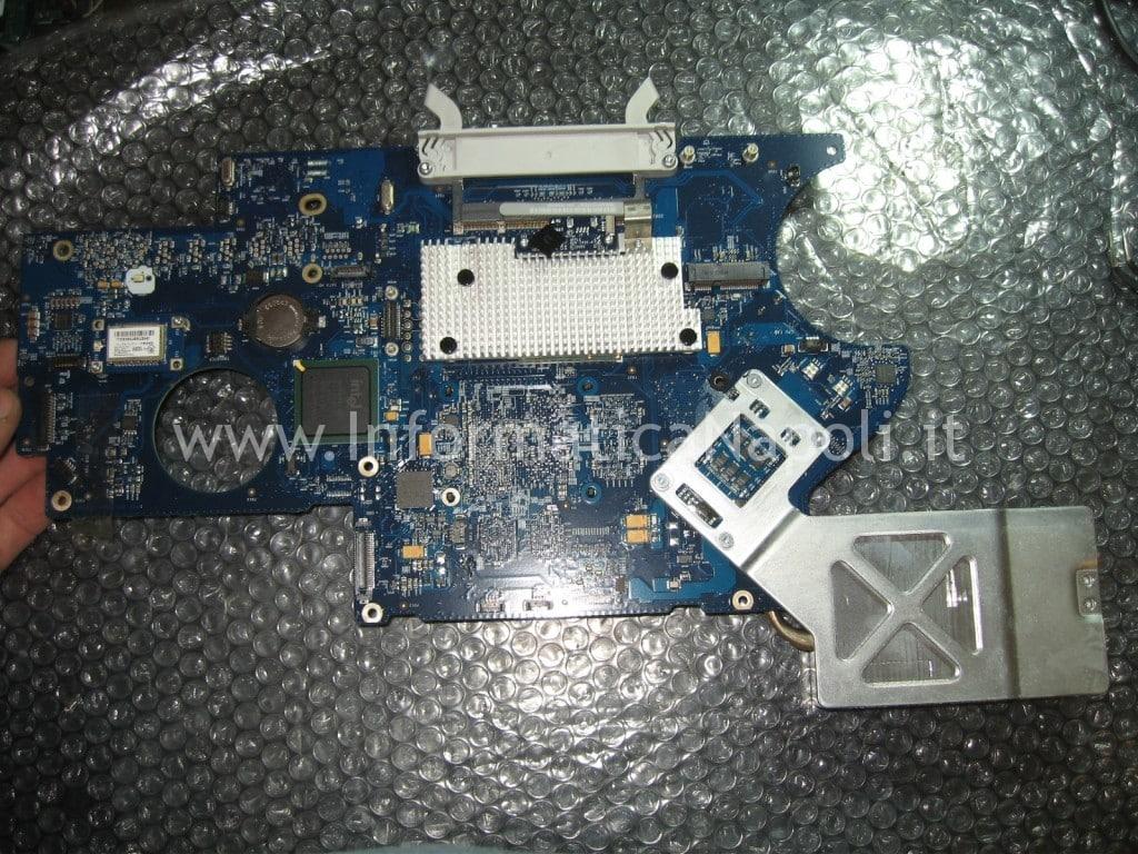 sostituzione logic board apple iMac 17″ 2006 EMC 2114 vintage napoli