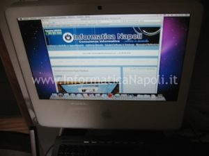 "Apple iMac vintage 17"" 2006 assistenza apple napoli"