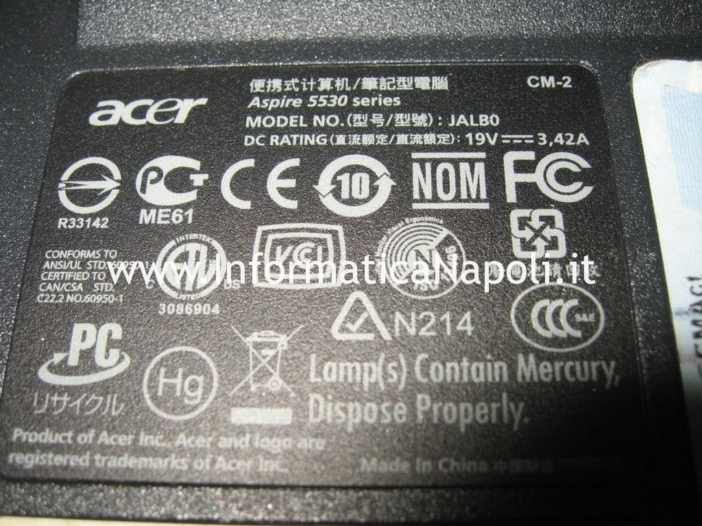 Acer 5530 G schermo nero