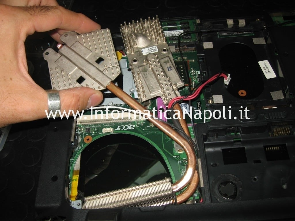 smontare scheda video CPU Acer aspire 6935 LF2
