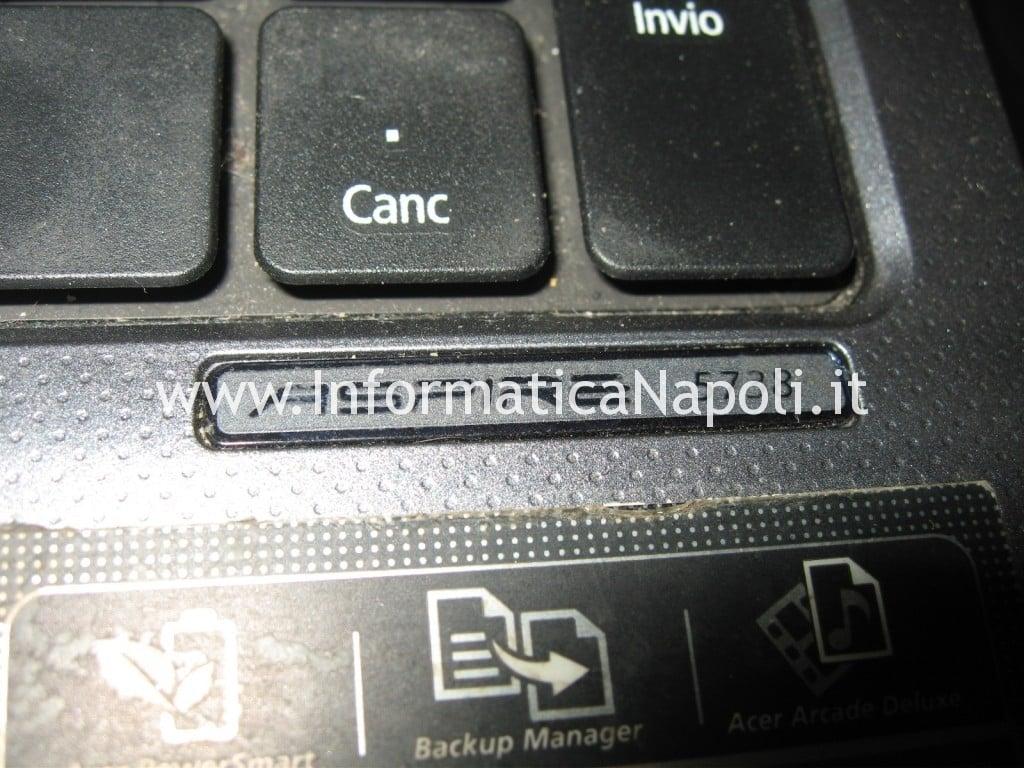 problema accensione Acer Aspire 5738g
