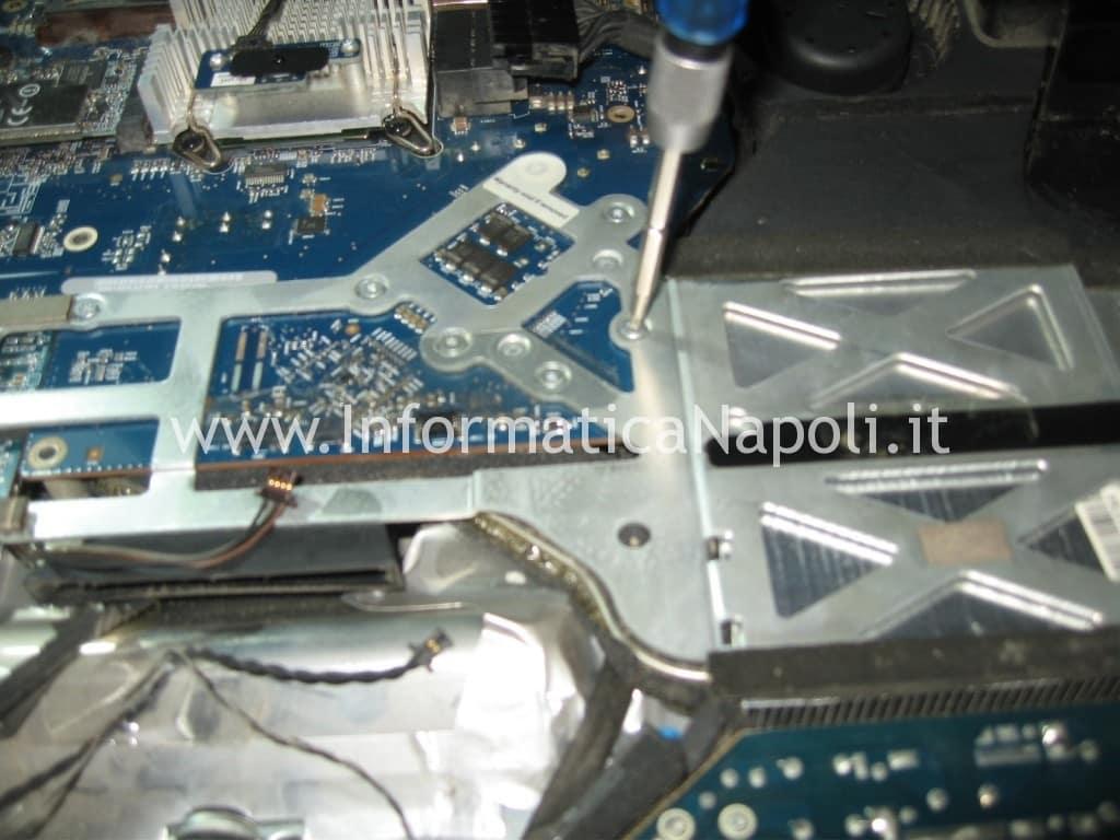 smontare scheda logica Apple A1225 24 pollici EMC 2134