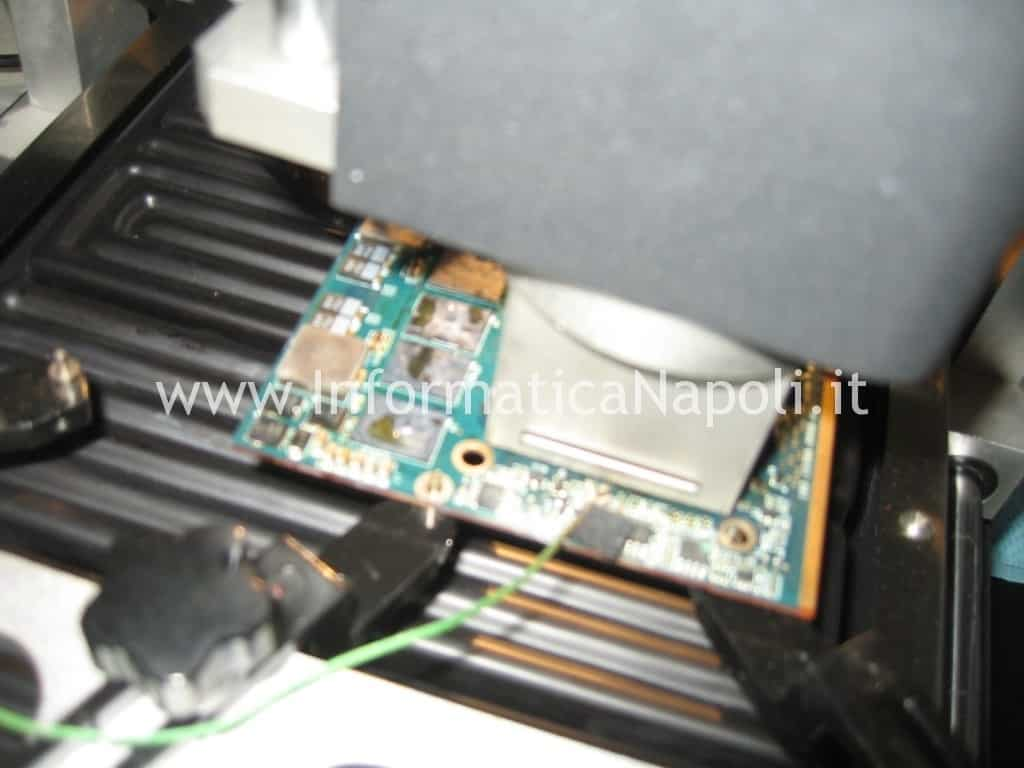 rework chip grafico Apple A1225 24 pollici EMC 2134