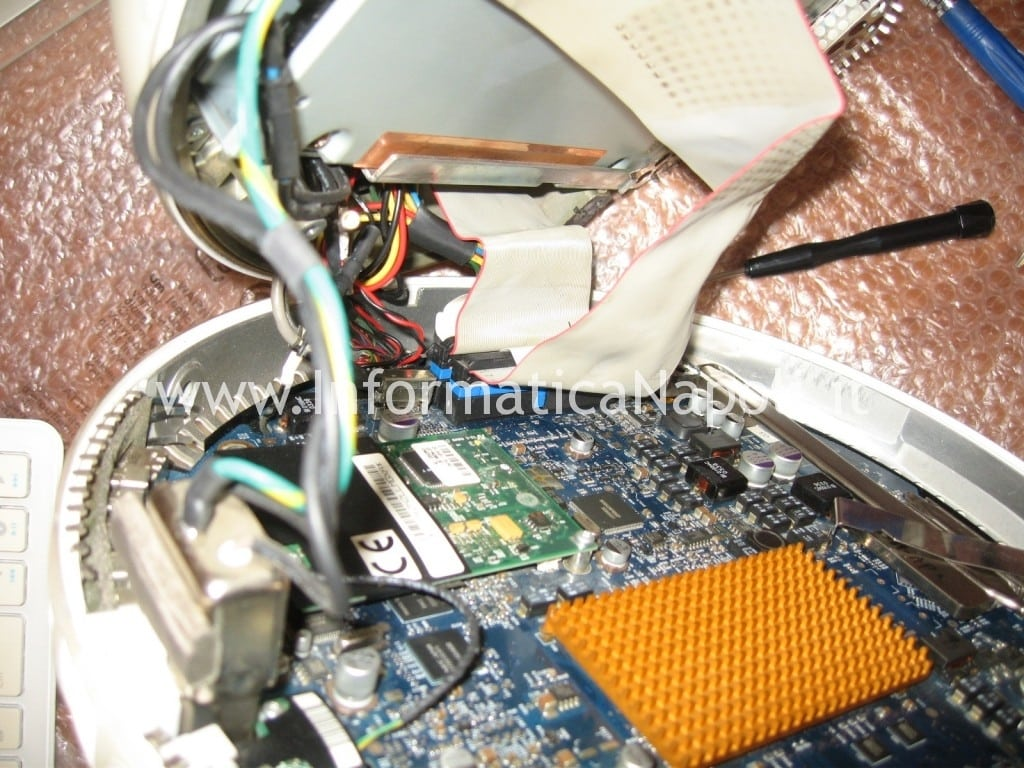 "come riparare logic board Apple vintage iMac G4 20"" a1065"