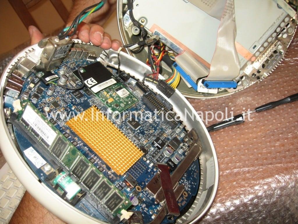 "problema surriscaldamento ventola logic board Apple vintage iMac G4 20"" a1065"