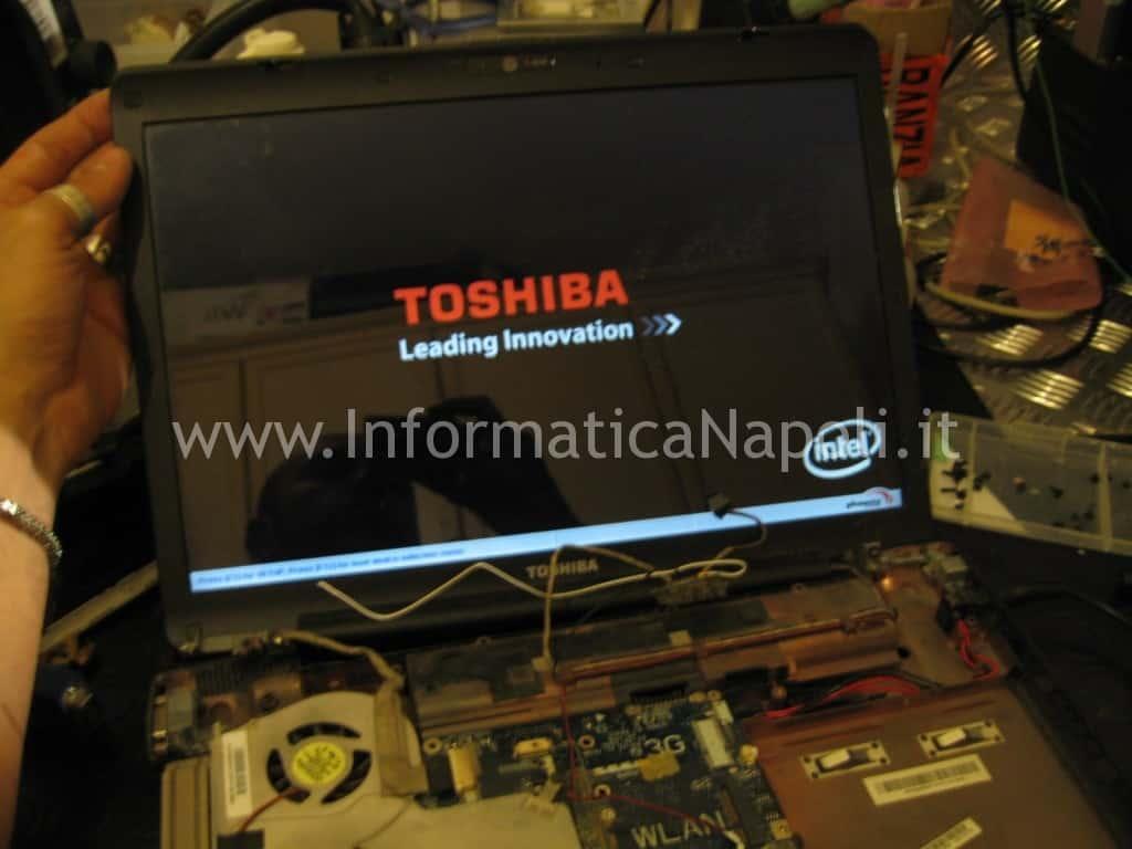 problemi dove riparare toshiba satellite A200 scheda video