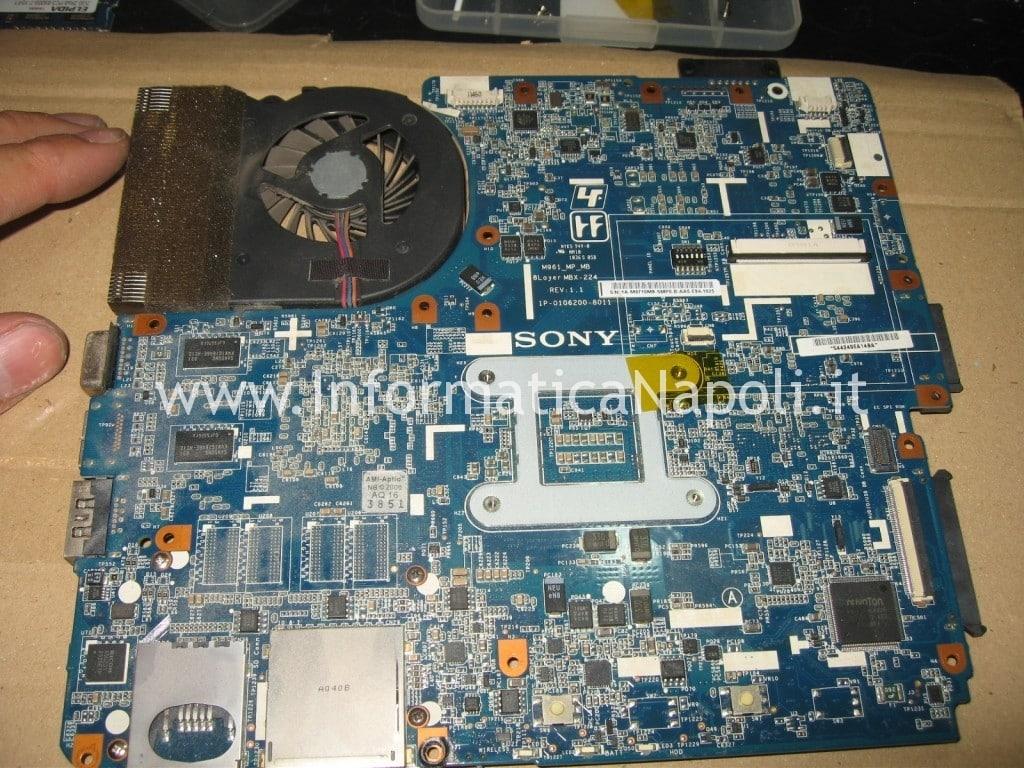riparazione scheda madre M961 MBX-224 Sony VPCEB3L1E 71211M