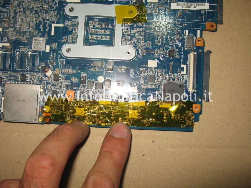 reballing scheda video ATI Radeon M961 MBX-224 Sony VPCEB3L1E 71211M