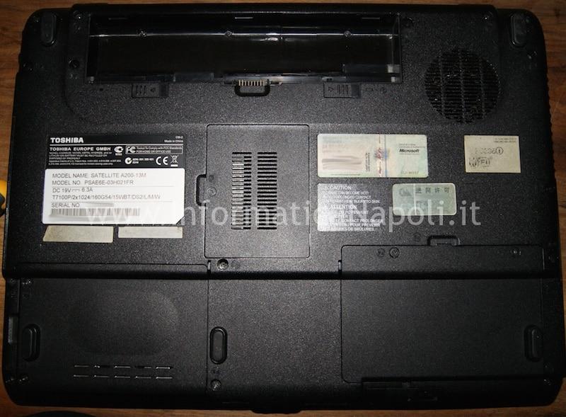 riparazione Toshiba A200-27C PSAE3E