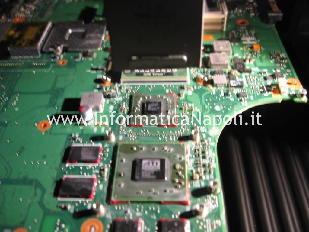 reballing rework assistenza Toshiba Satellite A300D PSAHCE