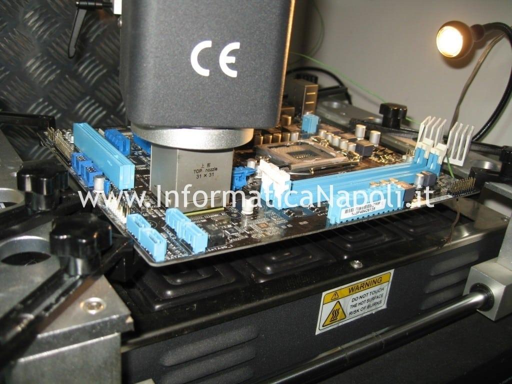 rework reballing scheda madre LGA1155 Asus P8H61
