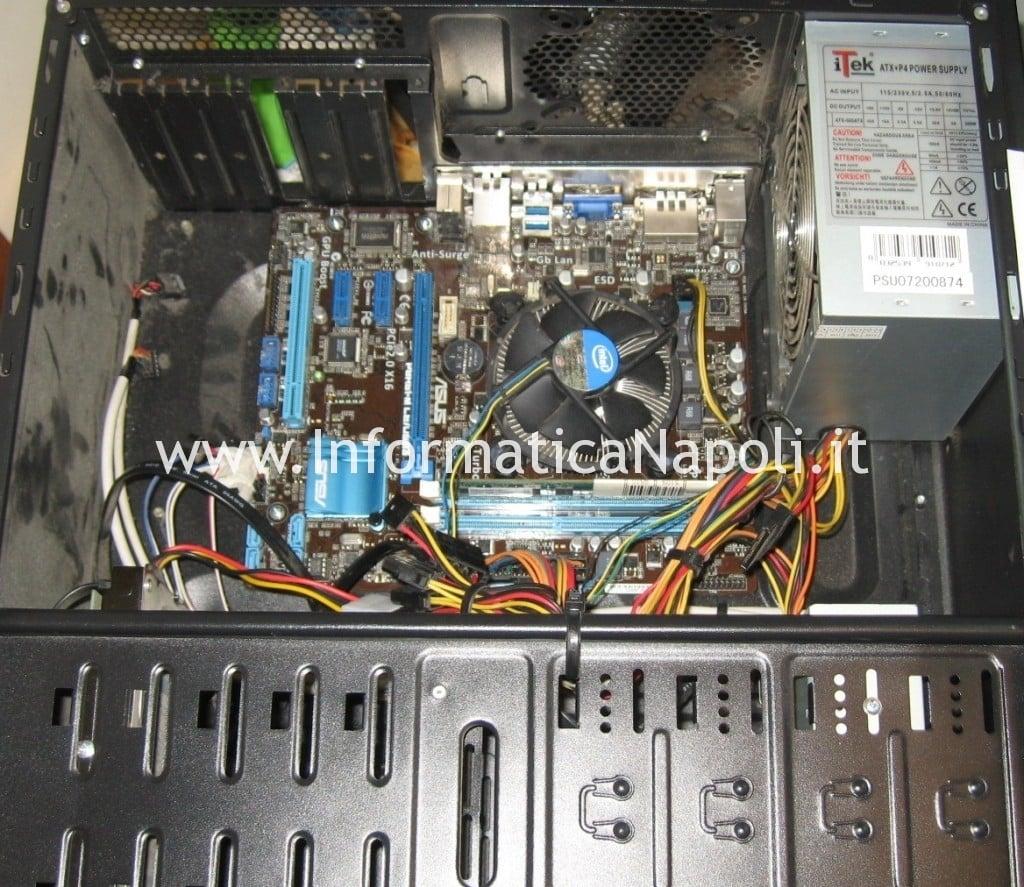 motherboard Asus P8H61 pc fisso riparato