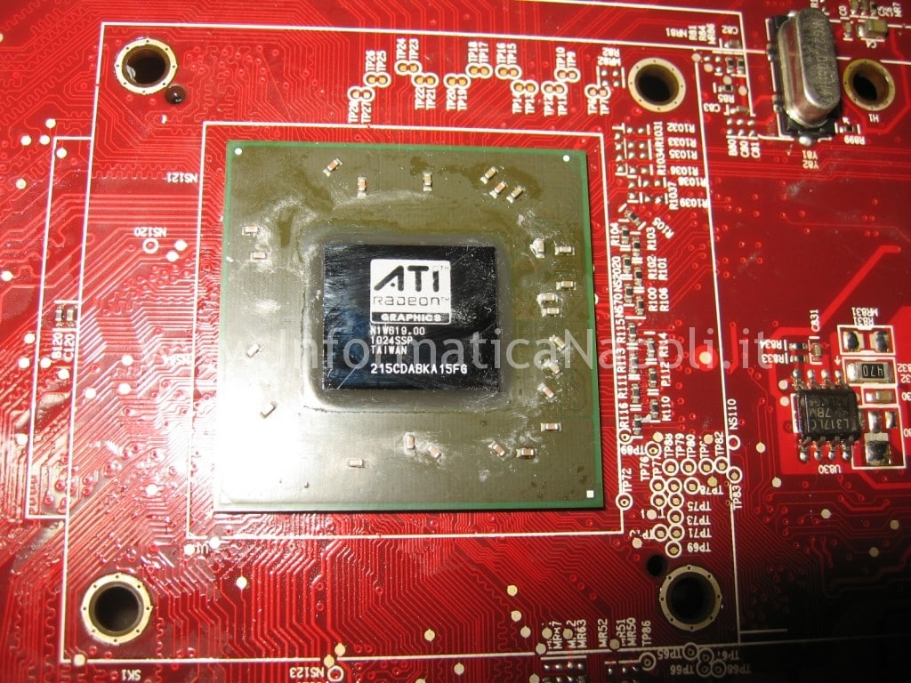 riparazione reballing ATI Radeon HD 2600 XT RV630 Apple Mac Pro macpro