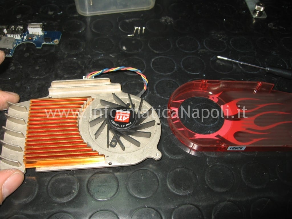 pulizia ventola ATI Radeon HD 2600 XT RV630 Apple Mac Pro macpro
