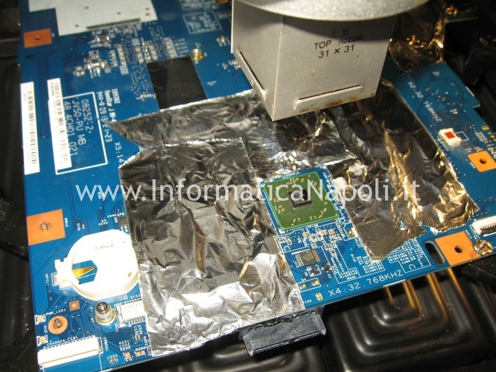 rework lift reflow reballing southbridge Acer Aspire 5536 5236 MS2265