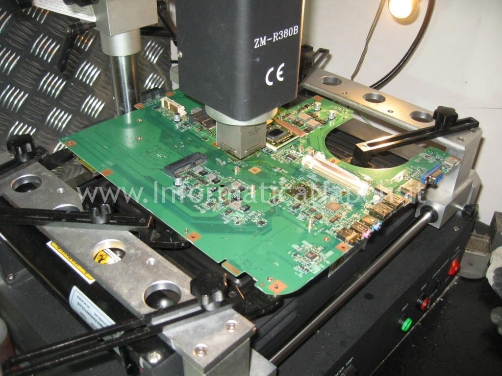 reballing reflow scheda video Acer aspire 8530 8530g MS2249