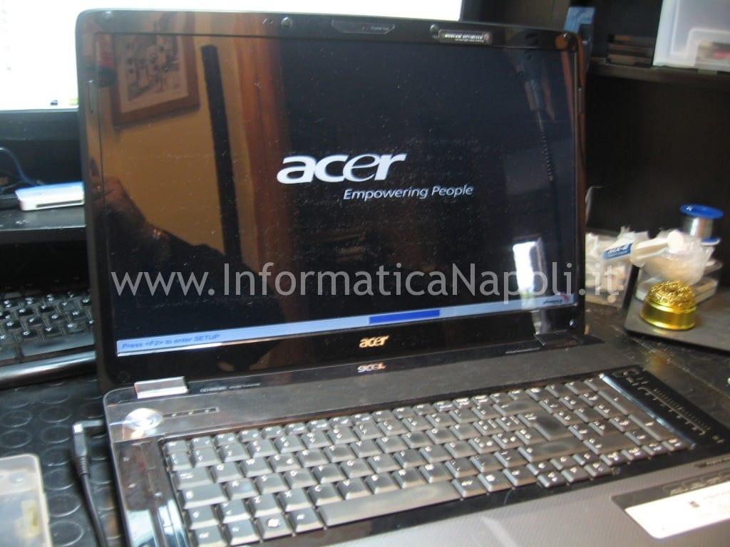 assistenza Acer aspire 8530 8530g MS2249 riparato funzionante