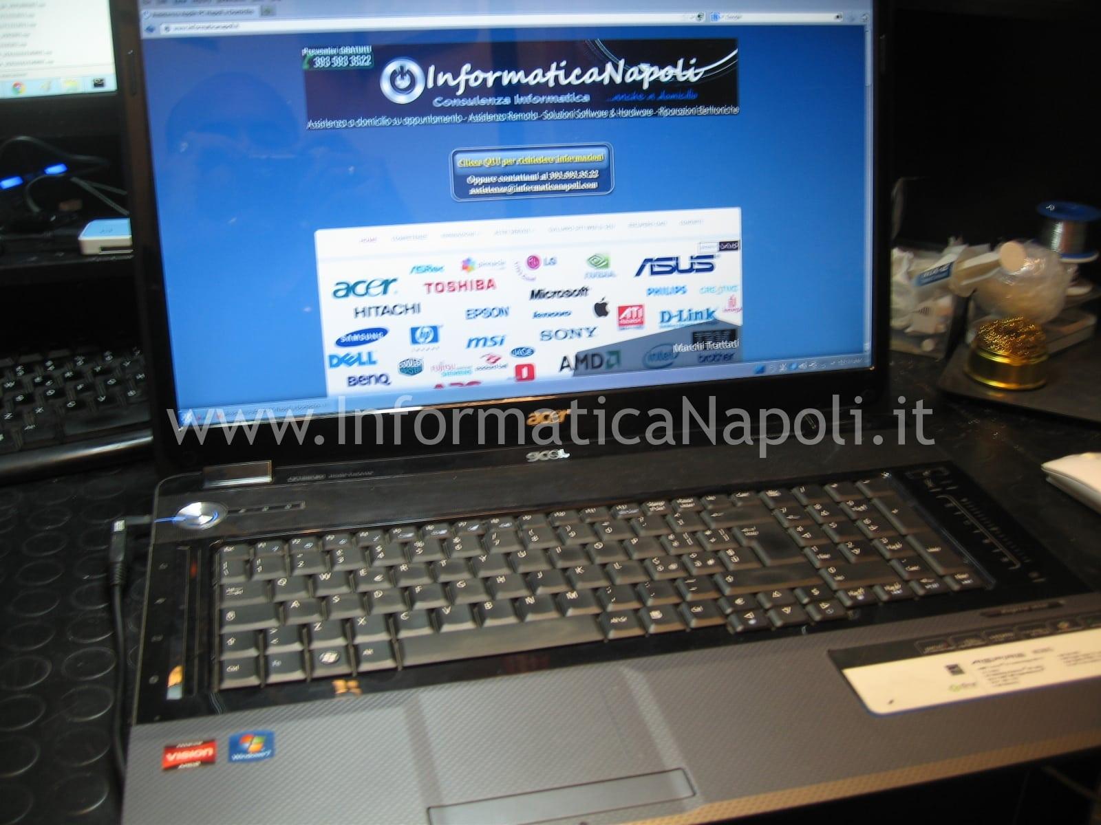 assistenza Acer aspire 8530 8530g MS2249 napoli