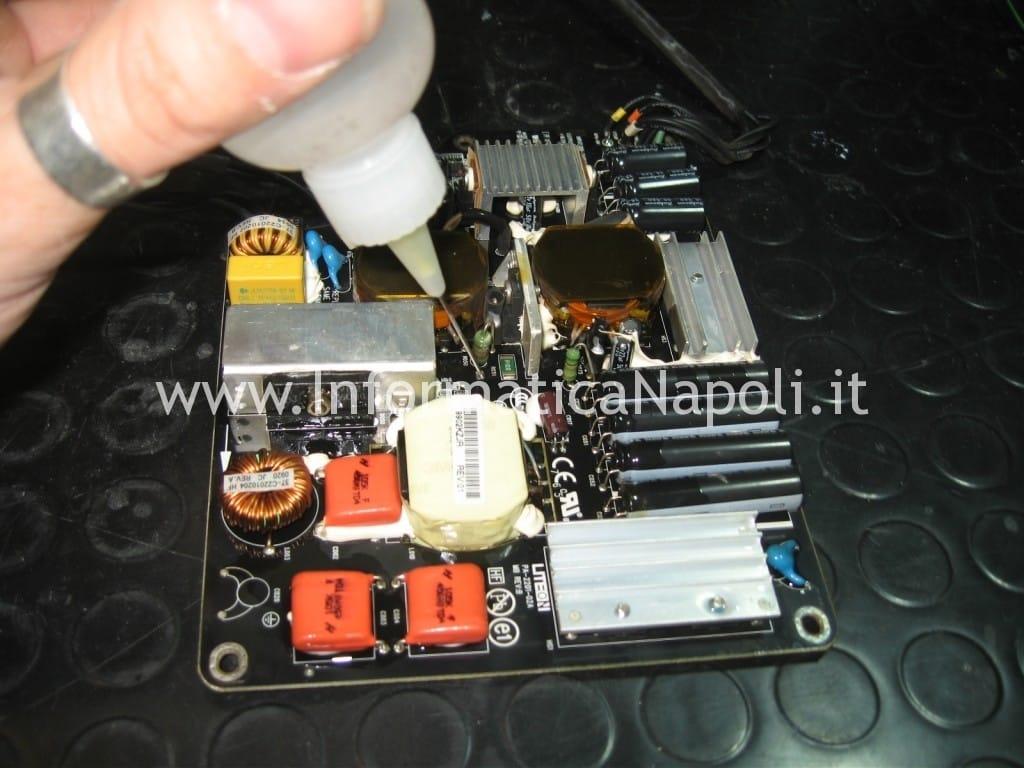 pulizia alcool isopropilico PSU cinema display