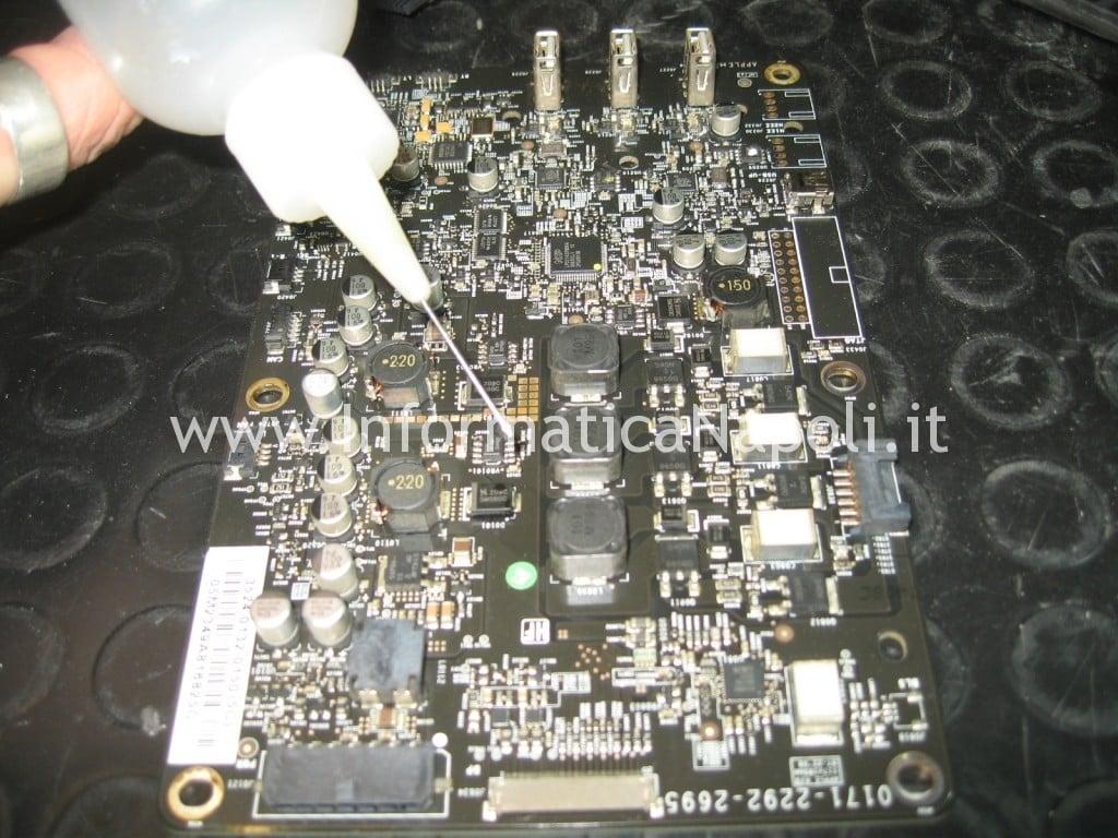 pulizia alcool isopropilico logicboard cinema display