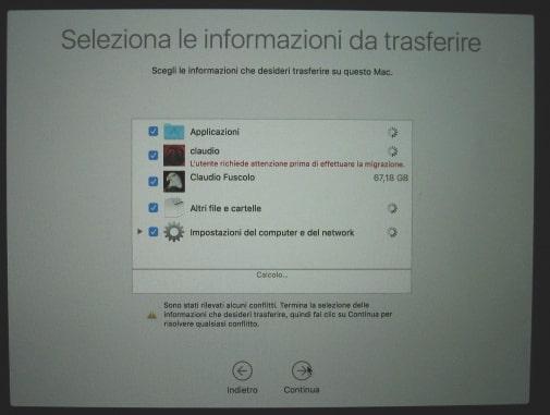sincronizzare nuovo macbook con usb-c