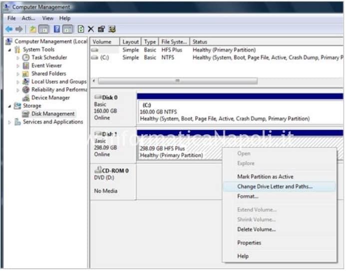 explorer disco nfs+ su windows