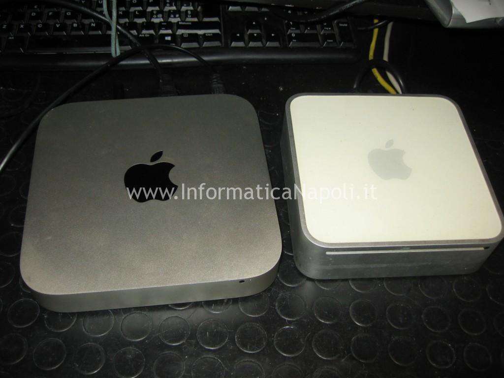 confronto Apple MacMini A1347 con MacMini Intel A1176