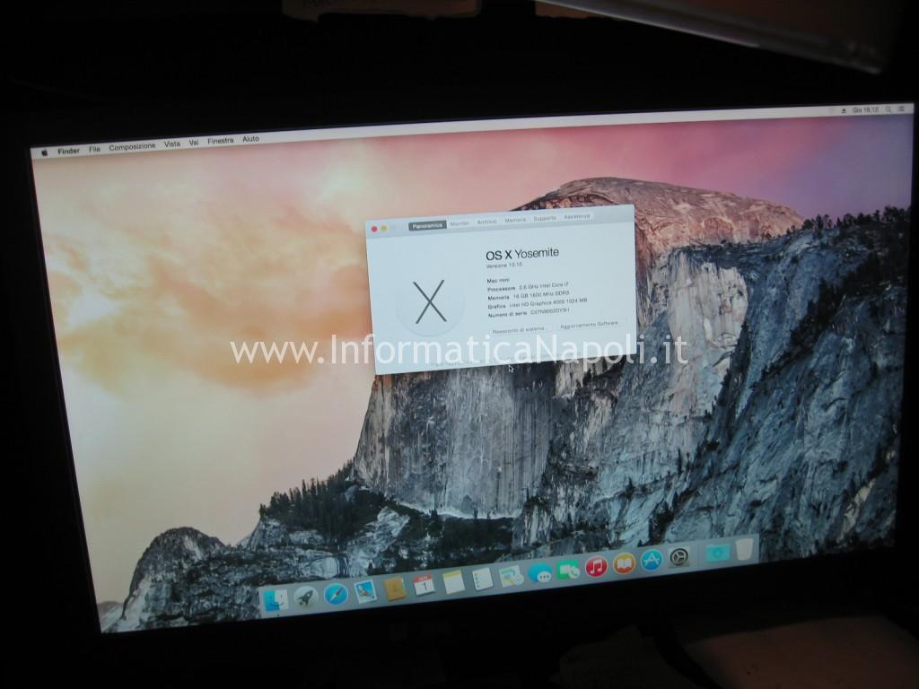 apple mac mini A1347 perfettamente funzionante riparato