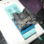 rimuovere chip eeprom BIOS HP DV5 Macronix MX25L800 adattatore PLCC