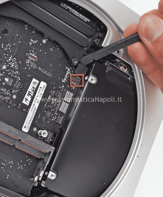 Secondo disco SSD Apple Mac mini A1347 flat sata problema bong avvio