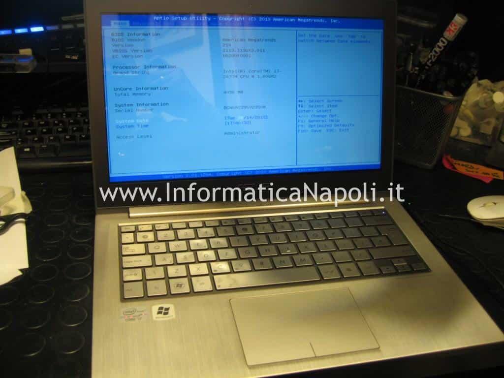 assistenza Asus zenbook UX31E funzionante riparato