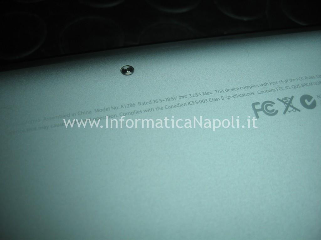ripristino bios efi Apple MacBook A1286 15